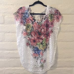 Lavish Lacey Blouse w/ inside attached tank top.